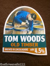 BEER PUMP CLIP - TOM WOOD'S OLD TIMBER