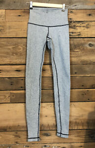 Lululemon Leggings sz 4 Jacquard Thick Warm Gray Herringbone Full Length