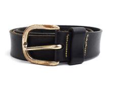 Vintage Mens Leather Belt Medium Width Black Size 38