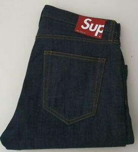 SS18 Supreme Rigid Denim slim jeans Indigo size 32 W32 L32 made in U.S.A
