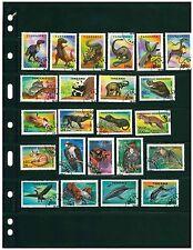 Lot of wildlife & flowers stamps Tanzania, Madagaskar