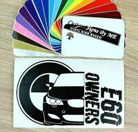 BMW E60 OWNERS Club Sticker Vinyl Decal Adhesive Window Bumper Tailgate BLACK