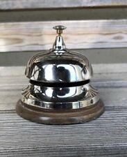 Desk Bell ~ Reception Bell ~ Table Bell Made Of Solid Brass Nickel Finish