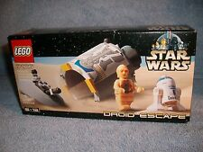 DROID ESCAPE Lego STAR WARS 7106 MISB 2001 Minifig C-3PO R2-D2 Escape Pod New