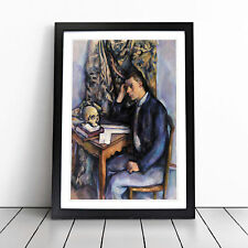 More details for young man and skull by paul cezanne wall art framed print picture