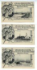 THREE 1907 Germany Postal Card Philatel.Tag Various Views