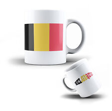 CERAMIC MUG BELGIUM - COFFEE CUP BELGIAN FLAG