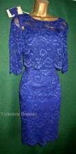 New MONSOON Uk 10 Cobalt Blue MARIGOLD Lace 3-in1 Shift Dress & Bolero Jacket
