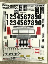 Tamkyo Decal, RC10T Sticker Set Associated, Team Truck