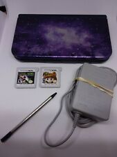 New Nintendo 3DS XL Galaxy Style Purple Handheld Console with games