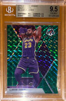 🔥2019-20 LeBron James PANINI PRIZM MOSAIC GREEN REFRACTOR #8 BGS 9.5 PSA Lakers