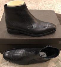 $895 New A. Testoni Mens Boots Black Shoes W/ Fur Inside Size 6 US 5 UK 39 EU