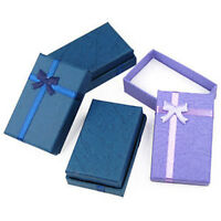 12 x Gift Boxes Ideal for Jewellery Shop Earring Bracelet with Satin Ribbon Foam