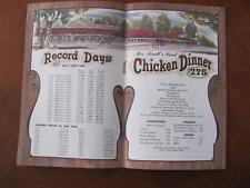 Vtg Knotts Berry Farm & Ghost Town Chicken Dinner Restaurant Menu BUENA PARK CA