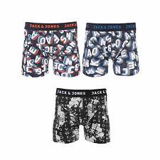 JACK & JONES City Life Mens Boxer Shorts Graffiti Underwear Trunks