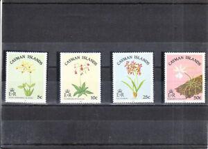 CAYMAN ISLANDS 1985  FLOWERS  SET MNH VF