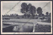 NOVARA BRIONA 13 Frazione PROH - PONTI MORA e STRONA Cartolina viaggiata 1942