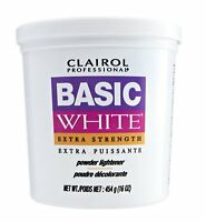Clairol Basic White Extra Strength Powder Lightener 16oz Tub