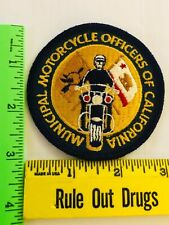 CALIFORNIA MUNICIPAL MOTORCYCLE OFFICERS ASSOC.  RARE  PATCH