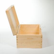 Wooden box Plain wooden box with lid, Wooden Storage Box, 30x20x14cm