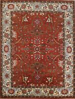 Traditional Oriental Indo Heriz Serapi Wool Area Rug Hand-Knotted Carpet 8x10