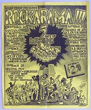 ROCKARAMA Avalon Poster, Santana, Gilbert Shelton art.  1969