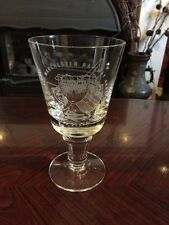 Rare Wedgwood Glass Commemorative Goblet - 150 Yrs Liverpool & Manc Railway