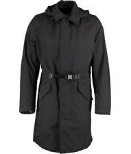 DIESEL Gents Black Coat With Hood