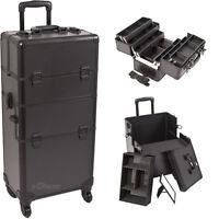 Cosmetic Train Rolling Case Organizer Storage Trolley 2n1 Sunrise Pro Artist NIB