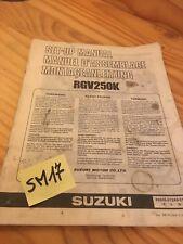 Suzuki RGV250K RGV250 K Rgv 250 Instruction Setup Preparation Manual Mounting