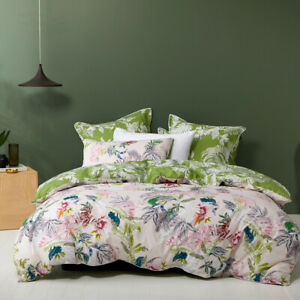 Logan and Mason PARADISO BLUSH Floral Doona / Quilt Cover Set King Size Bed
