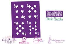 Printing Mesh Stencil | Playing Cards 2 3 4 5 | Cake Decorating Craft Cupcakes