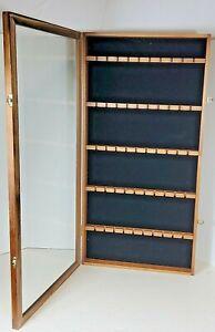 50 Spoon Display Case Rack Holder Cabinet Shadow Box Wall Rack Lockable