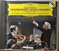 CD Brahms Violin Concerto Kremer Bernstein Wiener Full Silver West Germany CLEAN