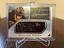 2015-16 Malcolm Subban UD Black Diamond Rookie Signature Placards Auto 100/249