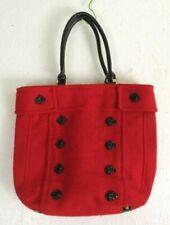 Large Rose Red Braciano Women's Bag 13x14x4 Looks like wool