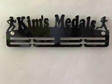 Personalised Thick Acrylic 2Tier 5mm Female run custom Medal Hanger / Holder
