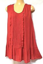 TS top TAKING SHAPE VIRTU plus sz XS / 14 Lady In Red Tunic soft draping NWT!
