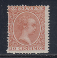 ESPAÑA (1889/01) MNH NUEVO SIN FIJASELLOS - EDIFIL 217 (10 cts) ALFONSO XIII