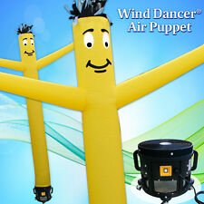 20' Yellow Wind Dancer Air Puppet Sky Wavy Man Dancing Inflatable Tube + Blower