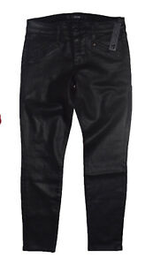 Joe's Jean Women's Skinny Ankle Coated Black Jeans Size 28 New With Tags