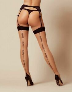 Lynx Stockings - Agent Provocateur champagne black hosiery BNWT - various sizes