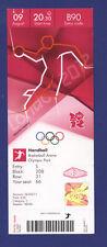 Orig.Ticket  Olympic Games LONDON 2012   HANDBALL  1/2 FINAL  SPAIN - MONTENEGRO