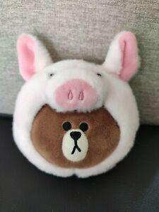 LINE Friends brown bear Coin Purse Wallet Naver App Character Pouch piggy Bag