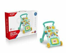2in1 Baby Walker First Steps Activity Bouncer Musical Toys Car Along Toddler UK
