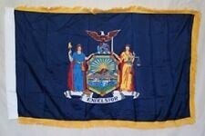 3x5 New York State Poly Nylon Sleeve w/ Gold Fringe Flag 3'x5' Banner