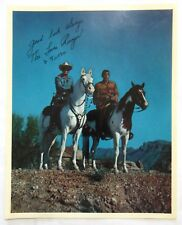 Vintage LONE RANGER & TONTO 8 x 10 Signed Fan Picture (1950's)