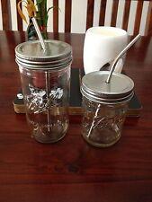 Straw lid Fits Wide mouth mason jars, Make your mason Jar a Drinking jar