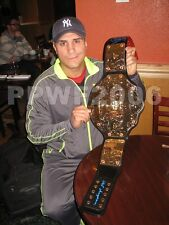 WWE ALBERTO DEL RIO ADULT WORLD BELT SIGNED WITH PROOF