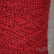 SUPER morbido cotone Pima 3 strati filato rosso intenso screziato 700g CONO 14 SFERE ALL'UNCINETTO TWEED